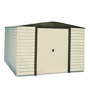 Arrow Gray Vinyl Coated Large Storage Shed