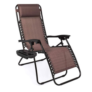 Best Choice Products Set of 2 Gravity Chairs in Brown