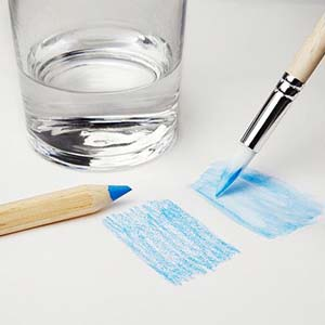 Blend Color Pencil with Water