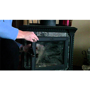 How to Clean the Glass on the Lid of the Wood Stove