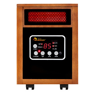 Dr Infrared Sleek Wood Colored Radiant Heater for Large Spaces
