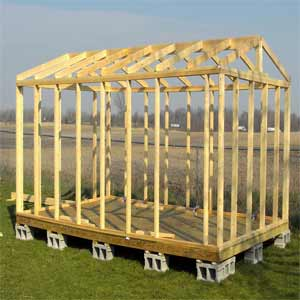 Frame of Storage Sheds