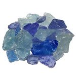 Hiland AZ Patio Fire Rock from Recycled Glass in Assorted Color