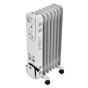 K & N White Oil Filled Heater with Cover