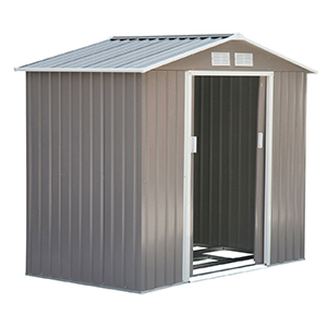 Outsunny Metal Outdoor Grey Storage Shed