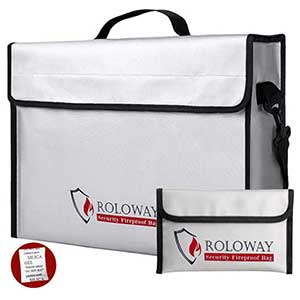 ROLOWAY Fireproof Document and Money Bags