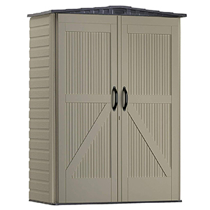 Rubbermaid Rough Neck Faint Maple Storage Shed