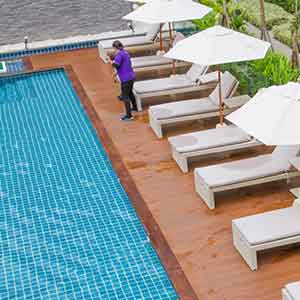 Wash Up the Pool Deck