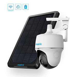 Wireless Pan Tilt Solar Power Wi-Fi Security Camera System